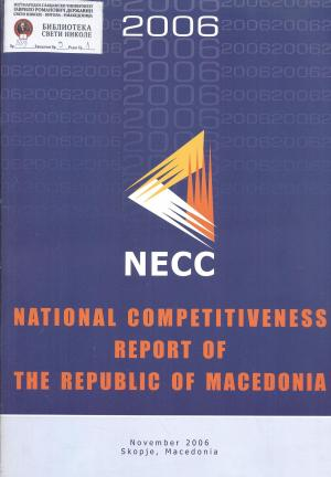 National competitiveness report of the Republic of Macedonia